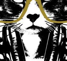 Hip Hop Angry Cat Design Sticker