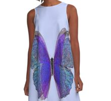 Lace Butterfly A-Line Dress