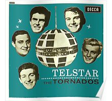 Telstar The Tornados Original art cover  1963 Poster