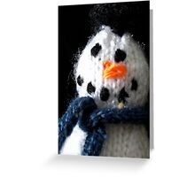 Knitted snowman Greeting Card