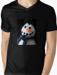 Knitted snowman Mens V-Neck T-Shirt