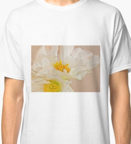 White Begonia Ruffles  Classic T-Shirt