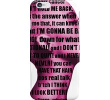 Lupe Fiasco - mission (breast cancer can't hold me back) iPhone Case/Skin