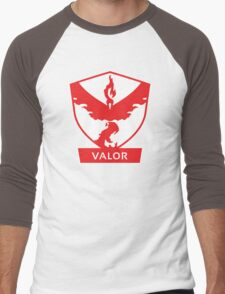 Pokemon GO - Team Valor Badge - PokeGO Men's Baseball ¾ T-Shirt