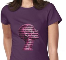 Lupe Fiasco - mission (breast cancer can't hold me back) Womens Fitted T-Shirt