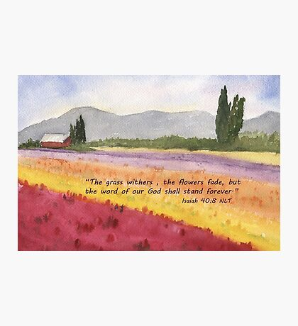Hope in Troubled Times- Isaiah 40:8 Photographic Print