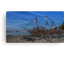 Black Pearl Pirate Ship Canvas Print