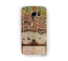 Ancona Vintage map.Geography Italy ,city view,building,political,Lithography,historical fashion,geo design,Cartography,Country,Science,history,urban Samsung Galaxy Case/Skin