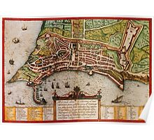Ancona Vintage map.Geography Italy ,city view,building,political,Lithography,historical fashion,geo design,Cartography,Country,Science,history,urban Poster