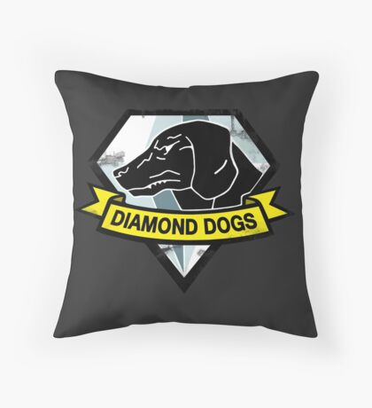 Diamond Dogs Throw Pillow
