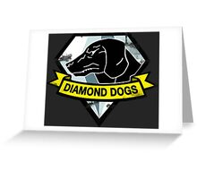 Diamond Dogs Greeting Card