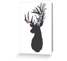 Stag with woodland antlers Greeting Card