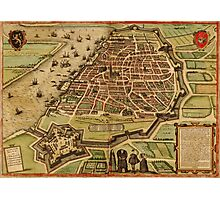 Antwerpen Vintage map.Geography Belgium ,city view,building,political,Lithography,historical fashion,geo design,Cartography,Country,Science,history,urban Photographic Print