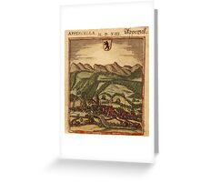 Appenzell Vintage map.Geography Switzerland ,city view,building,political,Lithography,historical fashion,geo design,Cartography,Country,Science,history,urban Greeting Card