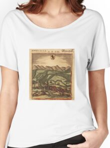 Appenzell Vintage map.Geography Switzerland ,city view,building,political,Lithography,historical fashion,geo design,Cartography,Country,Science,history,urban Women's Relaxed Fit T-Shirt