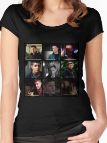Dean Winchester Quotes Collage #1 Women's Fitted Scoop T-Shirt