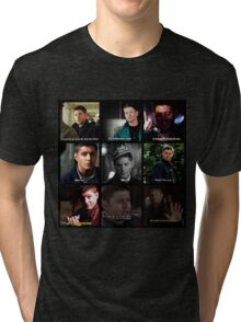 Dean Winchester Quotes Collage #1 Tri-blend T-Shirt