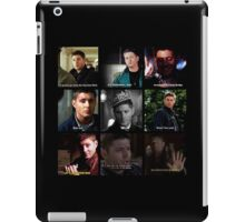 Dean Winchester Quotes Collage #1 iPad Case/Skin