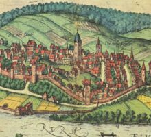 Arnsberg Vintage map.Geography Germany ,city view,building,political,Lithography,historical fashion,geo design,Cartography,Country,Science,history,urban Sticker