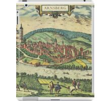 Arnsberg Vintage map.Geography Germany ,city view,building,political,Lithography,historical fashion,geo design,Cartography,Country,Science,history,urban iPad Case/Skin