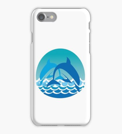 playful dolphins iPhone Case/Skin