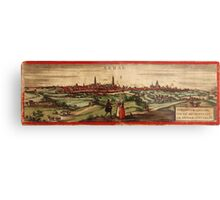 Arras Vintage map.Geography France ,city view,building,political,Lithography,historical fashion,geo design,Cartography,Country,Science,history,urban Metal Print