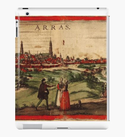 Arras Vintage map.Geography France ,city view,building,political,Lithography,historical fashion,geo design,Cartography,Country,Science,history,urban iPad Case/Skin