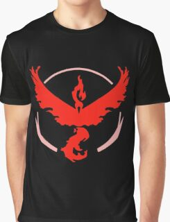 Pokemon Go - Team Valor (Moltres Logo) Graphic T-Shirt