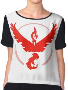 Pokemon Go - Team Valor (Moltres Logo) Chiffon Top