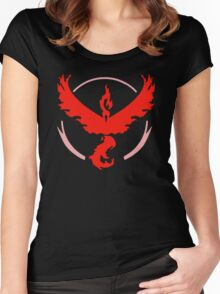 Pokemon Go - Team Valor (Moltres Logo) Women's Fitted Scoop T-Shirt