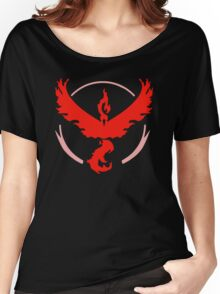 Pokemon Go - Team Valor (Moltres Logo) Women's Relaxed Fit T-Shirt