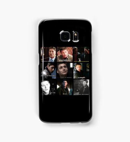 Dean Winchester Quote Collage #2 Samsung Galaxy Case/Skin