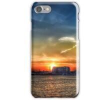 sunset at carltons wharf, east boston  iPhone Case/Skin