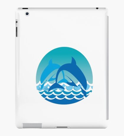 playful dolphins iPad Case/Skin