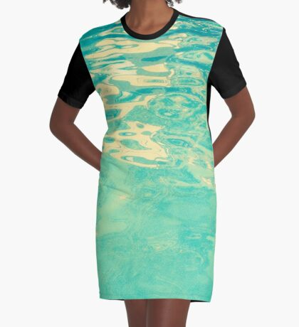 Summer Waters Graphic T-Shirt Dress