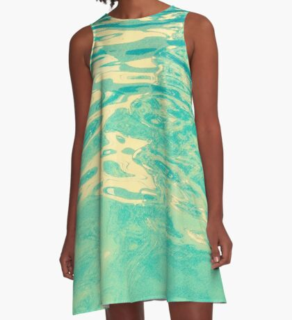 Summer Waters A-Line Dress
