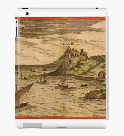 Baia Vintage map.Geography Italy ,city view,building,political,Lithography,historical fashion,geo design,Cartography,Country,Science,history,urban iPad Case/Skin