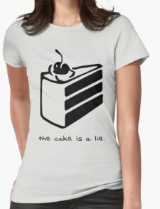 The Cake is a Lie Womens Fitted T-Shirt