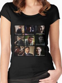 Dean Winchester Quotes Collage #3 Women's Fitted Scoop T-Shirt