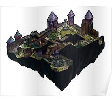 Cobblestone Isometric Map Poster