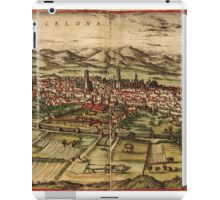 Barcelona Vintage map.Geography Spain ,city view,building,political,Lithography,historical fashion,geo design,Cartography,Country,Science,history,urban iPad Case/Skin