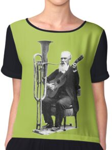 Vintage Music - Guitar & Tuba Chiffon Top