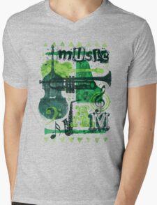 Music Jam Mens V-Neck T-Shirt