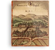 Basel Vintage map.Geography Switzerland ,city view,building,political,Lithography,historical fashion,geo design,Cartography,Country,Science,history,urban Metal Print