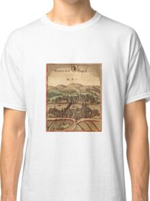 Basel Vintage map.Geography Switzerland ,city view,building,political,Lithography,historical fashion,geo design,Cartography,Country,Science,history,urban Classic T-Shirt