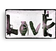 'LOVE' GUNS  Canvas Print