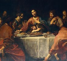 Last Supper by Valentin de Boulogne by Bridgeman Art Library
