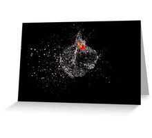 Water Explosion V. 2 Greeting Card