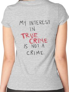 My Interest In True Crime is Not a Crime Women's Fitted Scoop T-Shirt