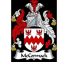 McCormack Coat of Arms / McCormack Family Crest Photographic Print
